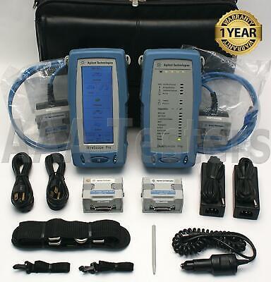 Agilent Wirescope Pro N2640a-100 Lan Cable Certifier Set Cat5e Cat6 Cat6a Ghz