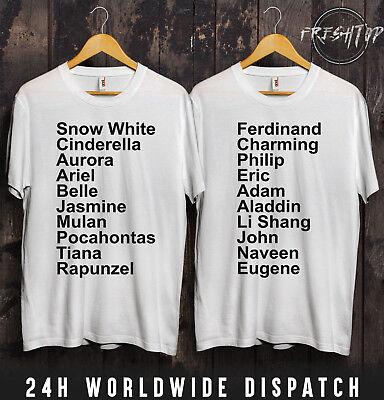 iel Schneewittchen T-Shirt Valentinstag Paar Freundin Wifey (Paare Disney Shirts)