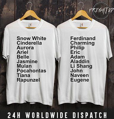 Disney Prinzessin T-Shirt Wifey Mann Freundin Verlobte Disneyland - Paar Disney Shirts