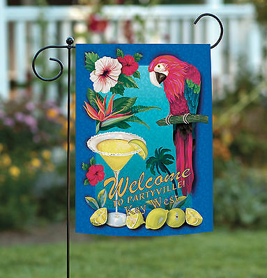 Toland Partyville Key West 12.5 x 18 Regional Florida Bird Garden Flag