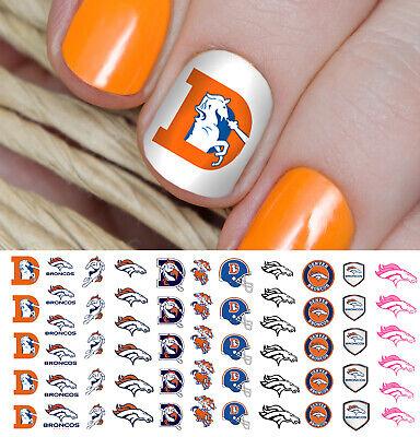 Denver Broncos Football Nail Art Decals - Salon Quality! - Denver Broncos Nail Decals
