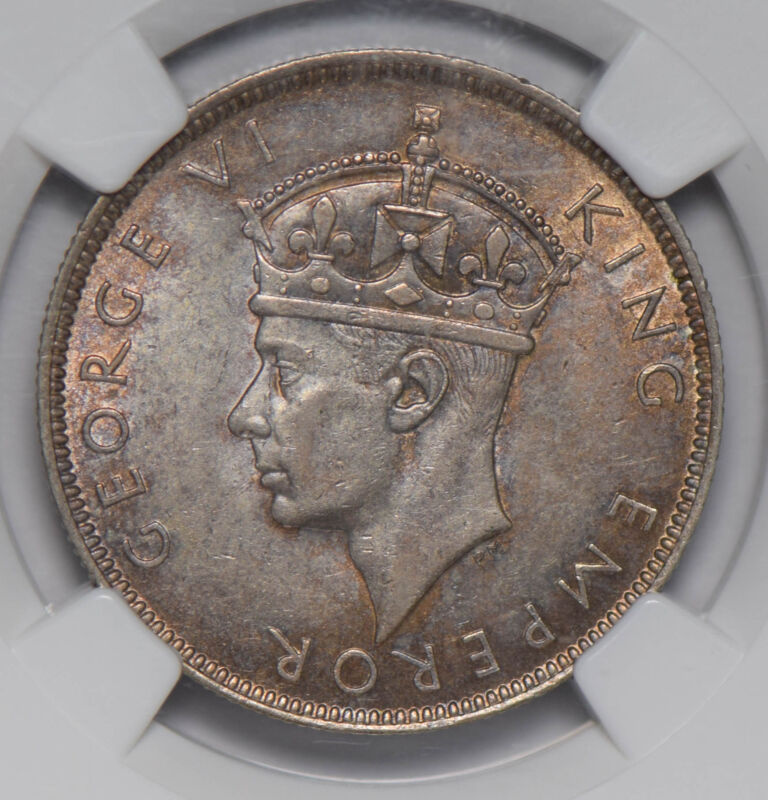 Seychelles 1939 Rupee silver NGC MS62 NG0657 combine shipping