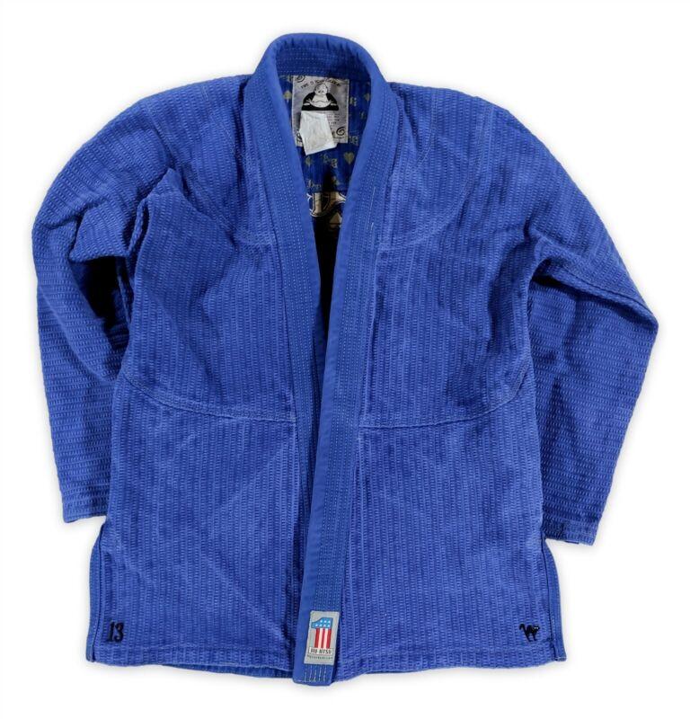 Pre-Owned Lucky Gi Blue Long Sleeve Brazilian Jiu Jitsu Size A3 Men - Gi Shirt