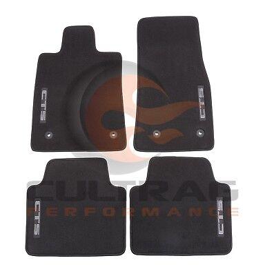 2014-2018 CTS Sedan GM Front & Rear Premium Carpet Floor Mats Black 22860826
