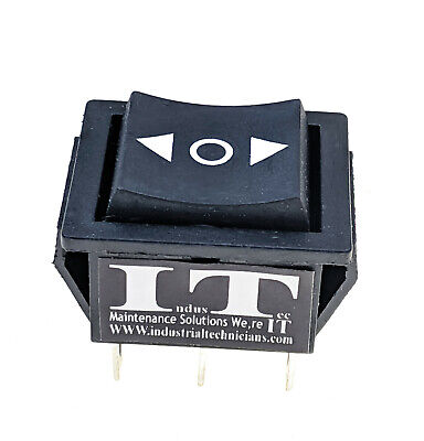 Dpdt 20 Amp Continous 6 Pin Onoffon Maintained Rocker Switch Polarity 12v 24v