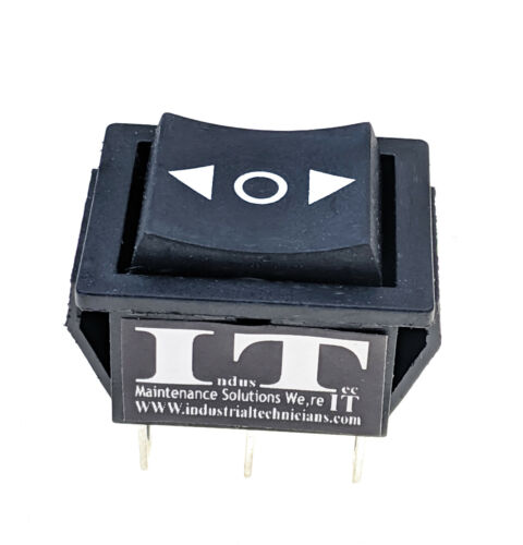 DPDT 20 AMP Continous 6 PIN on/off/on Maintained Rocker Switch polarity 12V 24V