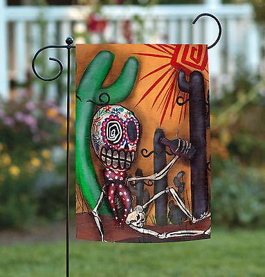 Toland Sugar Skull Cactus 12.5 x 18 Southwest Desert Pop Art