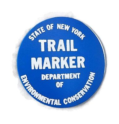 Vintage State Of New York Department Of Conservation Trail Marker Patch Medal