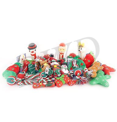 5 x Christmas Dog Toys Squeaky, Plush, and Rope Toys for Pet Puppy Gift