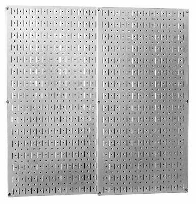 Galvanized Steel Pegboard Pack Wall Mount Panel Metal Garage Storage Organizer