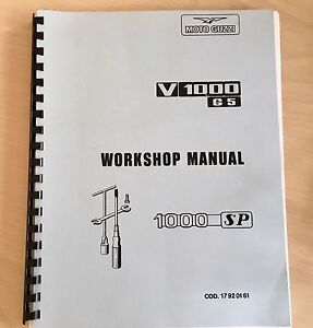 Moto Guzzi  workshop Manual Willoughby East Willoughby Area Preview