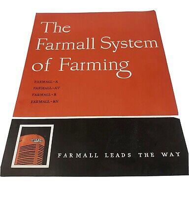 Vintage Farmall Tractor System Book Guide A Av B Bn Color Illustrations Photos