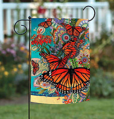 Garden Flags Spring (Toland Monarch Madness 12.5 x 18 Colorful Spring Butterfly Flower Garden Flag )