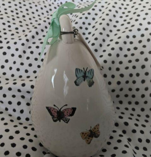 Rae Dunn Ceramic Birdhouse With Butterflies REST  New