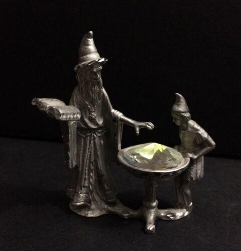 VTG Masterworks MWFP Pewter Wizard Cauldron Crystal Fantasy Figurine LOTR D&D