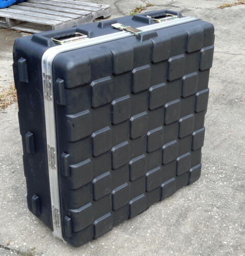 """Hard Plastic Hinged- Stackable Military Storage Container 32""""x32""""x15""""  w Handles"""