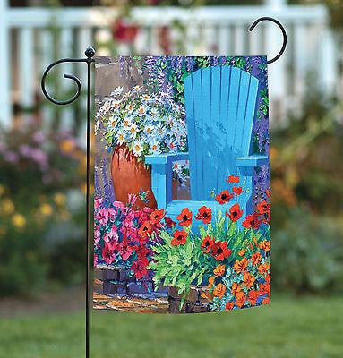 Garden Flags Spring (Toland Adirondack Arrangement 12.5 x 18 Colorful Spring Flower Garden Flag )