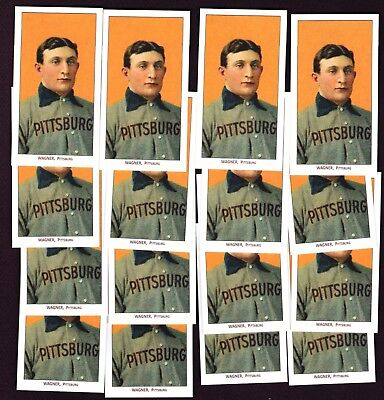 Set of 16 1909 T206 Honus Wagner Reprint cards with 16 variations of backs for sale  Evansville