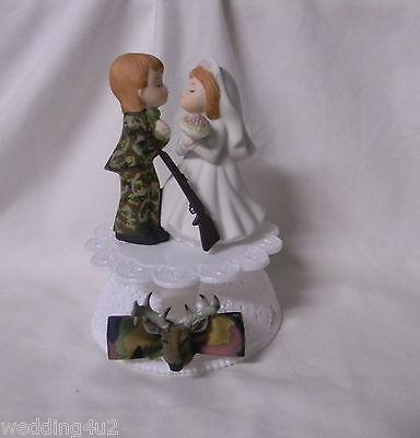 Wedding Reception Party ~Deer Hunter~ Camo Camouflage Groom Hunting Cake - Camouflage Wedding Cakes
