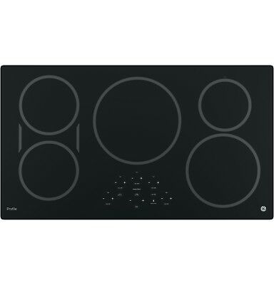 "GE Profile Series 36""  Black Induction Cooktop PHP9036DJBB"