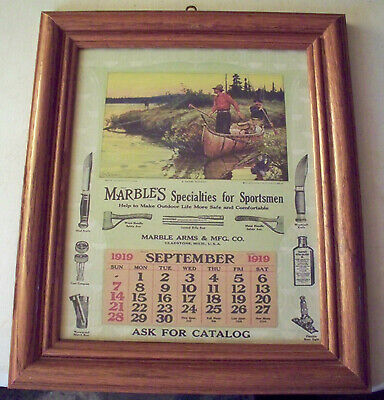 Marbles Knives Arms and Safety Axe Company 1919 Advertising Print Gladstone MI