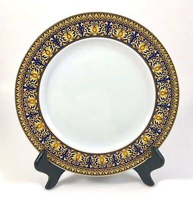 """Versace Rosenthal BLUE MEDUSA 8.5"""" Salad/Dessert Plate EXCELLENT PRE-OWNED!!!"""