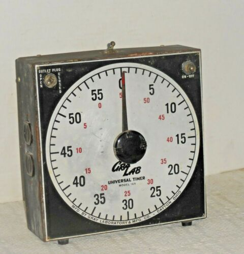 "Vintage ""GRALAB"" DARKROOM UNIVERSAL TIMER Electric Model 165 Gray Laboratory"