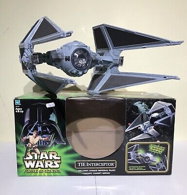 Star Wars Tie Interceptor Power Of The Jedi Boxed Rare Tie Fighter Not Vintage