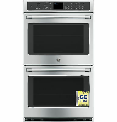 "New GE CAFÉ Series Stainless 30"" Built-in Double Convection Wall Oven CT9550SHSS"