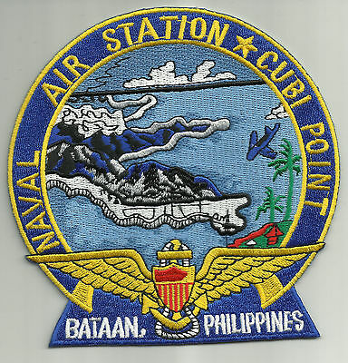 US NAVAL AIR STATION CUBI POINT BATAAN, PHILIPPINES MILITARY PATCH