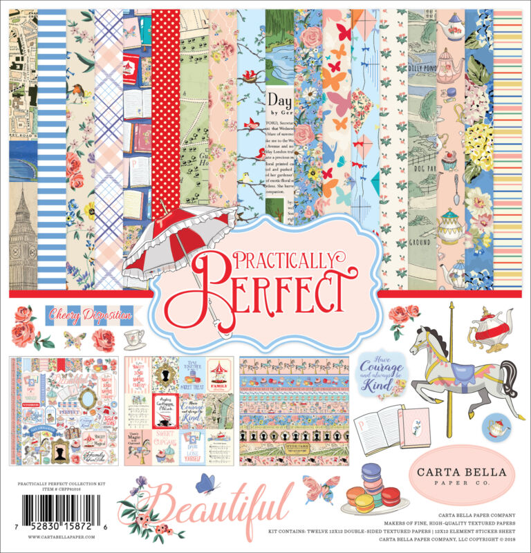 "Carta Bella Collection Kit 12""X12""-Practically Perfect"