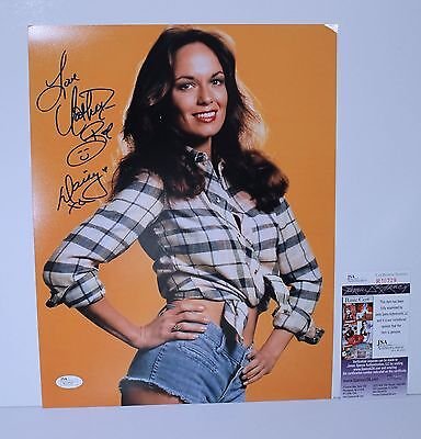 Daisy Duke Catherine Bach Signed 11X14 Photo Cut Off Shorts Plaid Shirt JSA COA