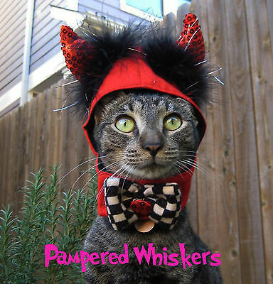 Little Devil Halloween devil costume for cats and dogs 12-15