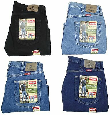 Wrangler Mens Jeans Five Star Regular Fit Many Sizes Many Colors New With Tags ()