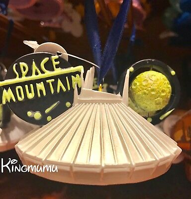 Disney Parks Space Mountain Mickey Ear Hat Ornament