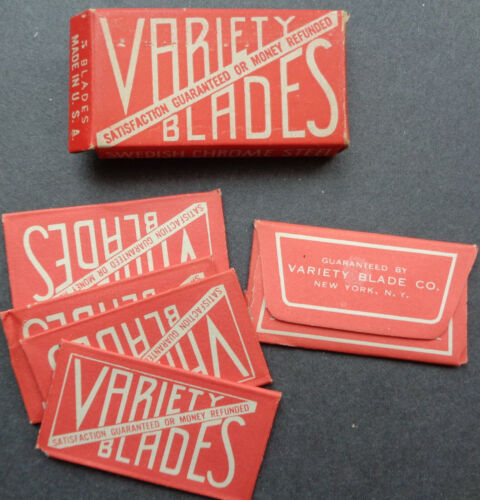 Vintage USA Razor Blades VARIETY Pack of 5 Seldom Offered