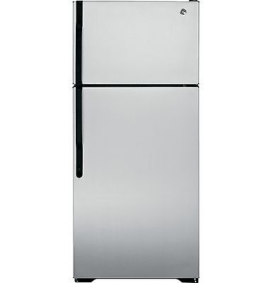 Brand New Silver Metallic GE 16.5 CU. FT. TOP FREEZER REFRIGERATOR Energy Star