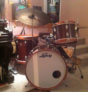 60's Vintage Ludwig Drums.  Bass, Rack Tom, Floor Tom