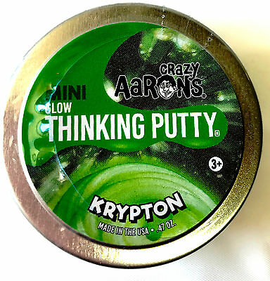 Krypton Glow In The Dark Crazy Aarons Thinking Putty New Small 2 Inch Tin  47Oz