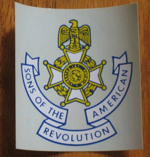 Sons of the American Revolution cross decal SAR  vintage 1960s sticker