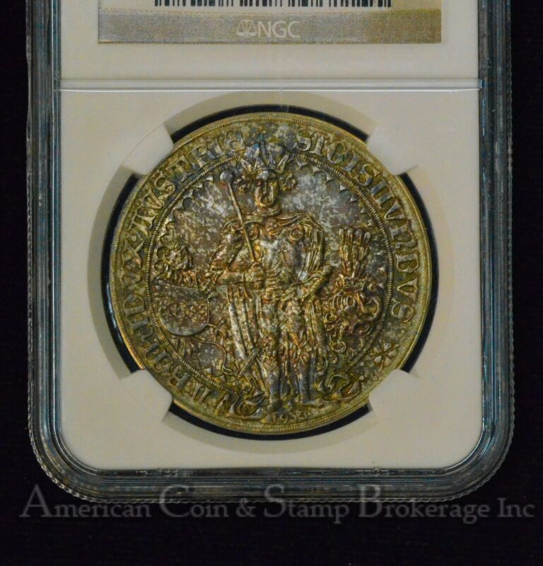 Austria 1 Guldiner 1486 (1953) MS66 NGC silver X#M28 COLORFUL TONED GEM