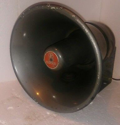Vintage Federal Sign Signal Pa Siren Speaker Model Sa24-a3