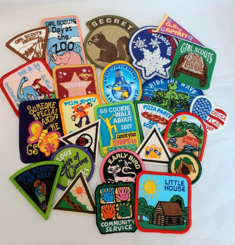 Vintage Group Of Girl Scout Badges