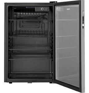 150 Can Beverage Refrigerator by Haier Center Locking Soda Pop Beer Wine Cooler