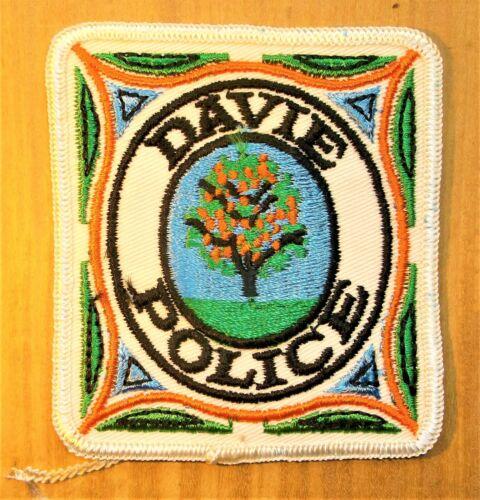 GEMSCO NOS Vintage Patch POLICE  DAVIE FL - Original 45+ year old