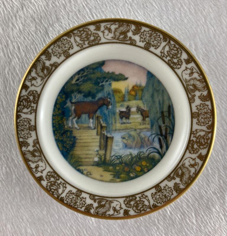 THE THREE BILLY GOATS GRUFF Mini Plate The Best Loved Fairy Tales Carol Lawson