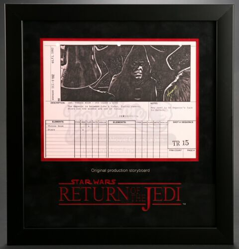 Star Wars - Ep VI - ROTJ Signed Production Storyboard -Palpatine with Luke (J33)