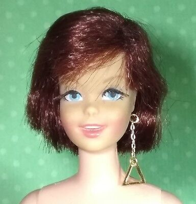 Barbie Dreamz GOLD TRIANGLE EARRING Doll Jewelry REPRO for Casey Francie Twiggy