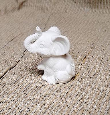 Ceramic Bisque Little Elephant Riverview Mold 390 U-Paint Ready to Paint