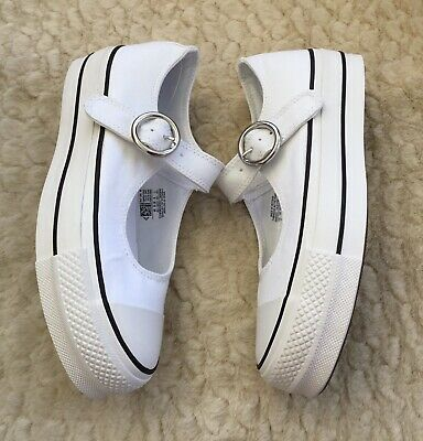 Converse Chuck Taylor All Star Mary Jane White Trainers Shoes UK5 BNIB RRP £55